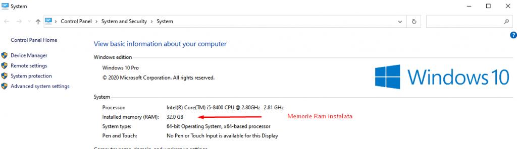 cata memorie ram are calculatorul